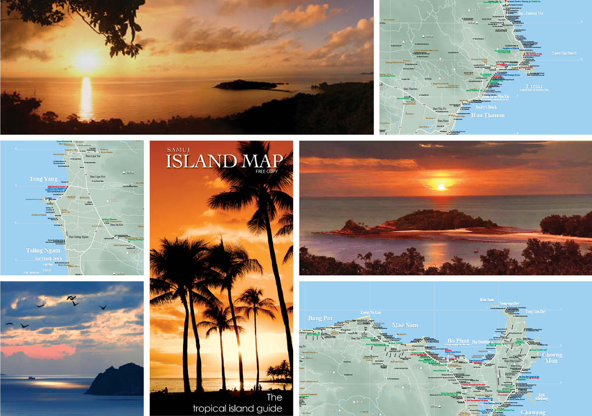 Samui Island Map is published bi-monthly in January, March, May, July, September and November.